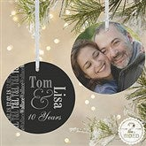 2-Sided Anniversary Memories Photo Ornament- Large - 14983-2L