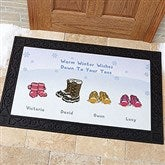 Warm Winter Wishes Personalized Doormat- 20x35 - 14985-M