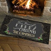 Merry Little Christmas Personalized Oversized Doormat- 24x48 - 14987-O