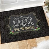 Merry Little Christmas Personalized Doormat- 18x27 - 14987