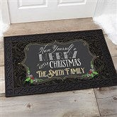 Merry Little Christmas Personalized Doormat- 20x35 - 14987-M