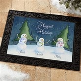 Our Snowman Family Personalized Doormat- 18x27 - 14990-S