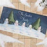 Our Snowman Family Personalized Oversized Doormat- 24x48 - 14990-O