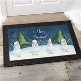 Our Snowman Family Personalized Doormat- 20x35 - 14990-M