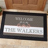 Classic Chevron Personalized Doormat- 20x35 - 14991-M