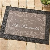 Family Blessings Recycled Rubber Back Personalized Doormat - 14994