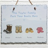 Warm Winter Wishes Personalized Slate Plaque - 14997