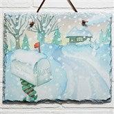 Enchanted Snow Escape Personalized Slate Plaque - 14998