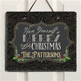 Have Yourself a Merry Christmas Personalized Slate Plaque - 15000