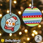 SmileyWorld® Snowman Personalized Ornament - 15009