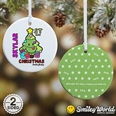 SmileyBaby® 1st Christmas Personalized Ornament - 15010