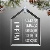 Milestone Dates Personalized Family Ornament - 15019