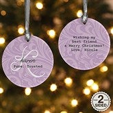 2-Sided Name Meaning Personalized Ornament - 15021-2