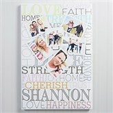 Photo Heart Collage Personalized Canvas Print- 16