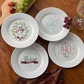 Spirit Of The Season Personalized Appetizer and Dessert Plate - Set of 4 - 15031