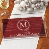 Holiday Wreath Personalized Acrylic Serving Tray - 15032
