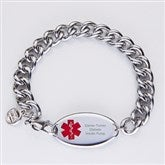 Personalized Mens Stainless Steel Medical Bracelet - 15035