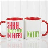 Funny Morning Quote Personalized Coffee Mug 11oz.- Red - 15040-R
