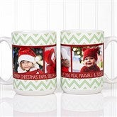 Picture Perfect Christmas Photo Personalized Coffee Mug 15 oz.- White - 15041-L