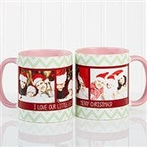Picture Perfect Christmas Photo Personalized Coffee Mug 11oz.- Pink - 15041-P