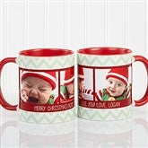 Picture Perfect Christmas Photo Personalized Coffee Mug 11oz.- Red - 15041-R