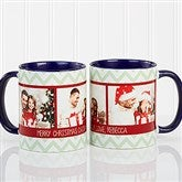 Picture Perfect Christmas Photo Personalized Coffee Mug 11oz.- Blue - 15041-BL
