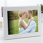Wedding Sentiments Personalized Photo With Frame- 5