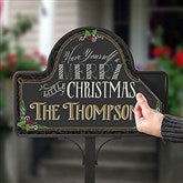 Merry Little Christmas Personalized Magnetic Garden Sign - 15059-M