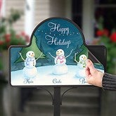 Our Snowman Family Personalized Magnetic Garden Sign - 15062-M
