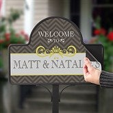 Classic Chevron Personalized Magnetic Garden Sign - 15063-M