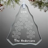 Falling Snowflake Family Personalized Ornament - 15065