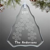 Falling Snowflake Family Personalized Ornament - 15065-N