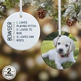 2-Sided Definition of Pet Photo Ornament- Small - 15076-2