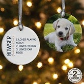 2-Sided Definition of Pet Personalized Photo Ornament - 15076-2
