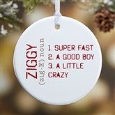 1-Sided Definition of Pet Personalized Ornament- Small - 15076-1