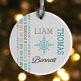 1-Sided Darling Baby Photo Personalized Ornament - 15082-1