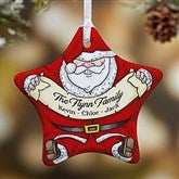 1-Sided Vintage Santa Personalized Ornament - 15086-1