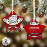 2-Sided Vintage Santa Personalized Ornament - 15086-2