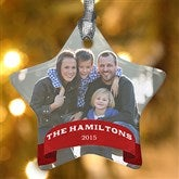 1-Sided Holiday Photo Personalized Star Ornament