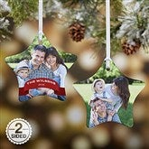 2-Sided Holiday Photo Personalized Star Ornament - 15087-2