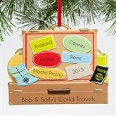 Vacation Memories© Personalized Travel Ornament