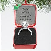Engagement Ring© Personalized Ornament