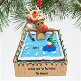 Hot Tub Holiday© Personalized Ornament