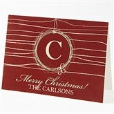 Holiday Wreath Personalized Greeting Card - 15117