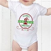 Santa Loves Me Personalized Baby Bodysuit - 15123-CBB
