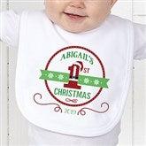 Santa Loves Me Personalized Bib - 15123-B