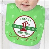 Santa Loves Me Personalized Bib - 15123-B