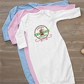 Santa Loves Me Personalized Baby Gown - 15123-G