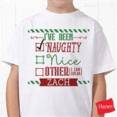 I Can Explain Personalized Christmas Hanes® Youth T-Shirt - 15124-T