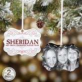 Family Swirl Photo 2-Sided Ornament - 15145